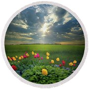 Hold Fast What Is Good Round Beach Towel