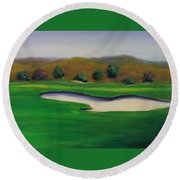 Hole 1 Great Beginnings Round Beach Towel