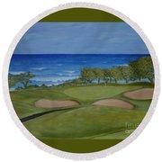 Hole 17 - Wailua Golf Course On Kauai Round Beach Towel