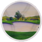 Hole 2 Nuttings Creek Round Beach Towel