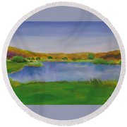 Hole 3 Fade Away Round Beach Towel