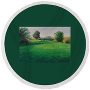 Hole 6 Natures Kiss Round Beach Towel