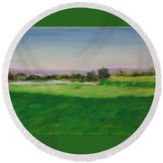 Hole 8 Mission Green Round Beach Towel