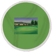 Hole 9 Entrapment Round Beach Towel