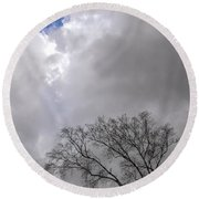 Hole In The Sky Round Beach Towel