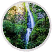 Hole In The Wall Falls Round Beach Towel