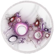 Hole To Hole Round Beach Towel