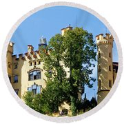 Holenschwangau Castle 2 Round Beach Towel