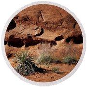 Holes - Yucca - Kodachrome Basin Round Beach Towel