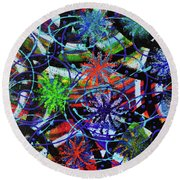 Holiday Abstract  Round Beach Towel