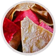 Holiday Chips Round Beach Towel