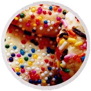 Holiday Cookies Round Beach Towel