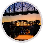 Holiday Lights Chattanooga #2 Round Beach Towel