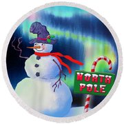 Holiday Top Hat Round Beach Towel