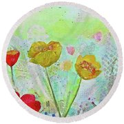 Holland Tulip Festival II Round Beach Towel
