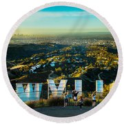 Hollywood Dreaming Round Beach Towel