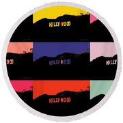 Hollywood Poster Art Round Beach Towel