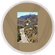Hollywood Sign / Hollywood Hills Round Beach Towel