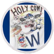 Holy Cow  Round Beach Towel