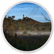Holy Hill In Fall Round Beach Towel