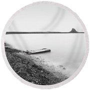 Holy Island - Minimalism Round Beach Towel
