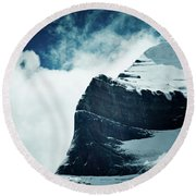 Holy Kailas West Slop Himalayas Tibet Artmif.lv Round Beach Towel