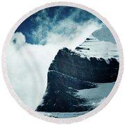 Holy Kailas West Slop Himalayas Tibet Artmif.lv Round Beach Towel