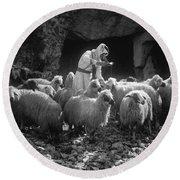 Holy Land: Shepherd, C1910 Round Beach Towel