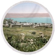 Holy Land: Tiberias Round Beach Towel
