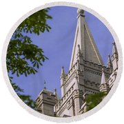 Holy Temple Round Beach Towel by Chad Dutson