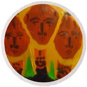 Holy Trinity Round Beach Towel