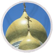 Holy Virgin Cathedral In San Francisco Round Beach Towel