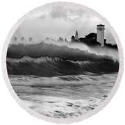 Holy Water Round Beach Towel