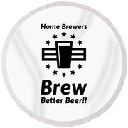 Home Brew Logo Range Round Beach Towel