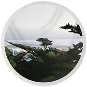 Home By The Sea Round Beach Towel