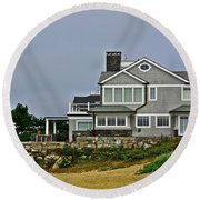 Home By The Shore Round Beach Towel