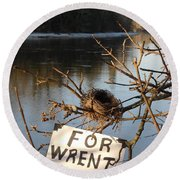 Home By Water For Wrent Cheep Round Beach Towel