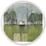 Home Is Round Beach Towel