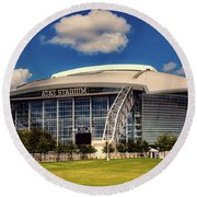 Home Of The Dallas Cowboys Round Beach Towel