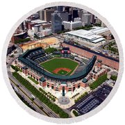 Home Of The Orioles - Camden Yards Round Beach Towel