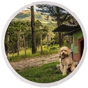 Home Owner Round Beach Towel