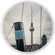 Home Port Berlin Round Beach Towel