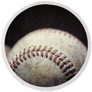 Home Run Ball Round Beach Towel by Lisa Russo