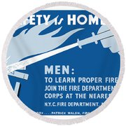 Home Safety Is Home Defense Round Beach Towel by War Is Hell Store