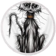 Homeless Cat Round Beach Towel