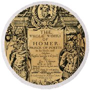 Homer Title Page, 1616 Round Beach Towel