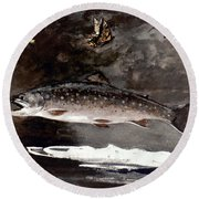 Homer: Trout, 1889 Round Beach Towel