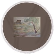 Homestead Round Beach Towel