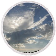 Homestead Sky Round Beach Towel