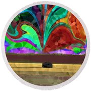 Homeward Bound Round Beach Towel